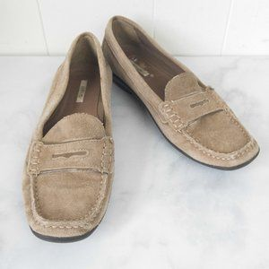 Geox Suede Tan Loafers, Size EU 37.5 / US 7.5